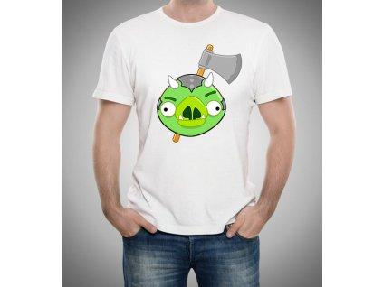 pánské bílé tričko Angry Birds Vs. Gamorreans