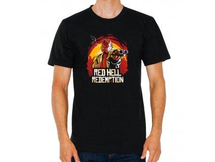 pánské tričko red dead redemption hell boy