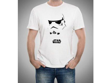 pánské bílé tričko star wars stormtroopers maska