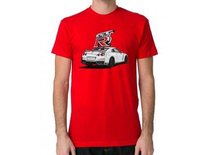 pánské červené tričko rychle a zběsile nissan GT R
