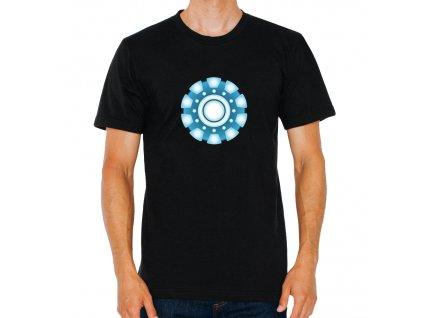 pánské černé tričko Iron Man Zdroj