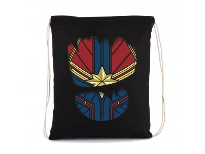 vak na záda Captain Marvel oblek