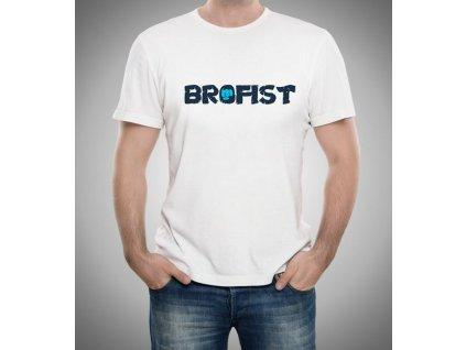 pánské bílé tričko pewdiepie brofist