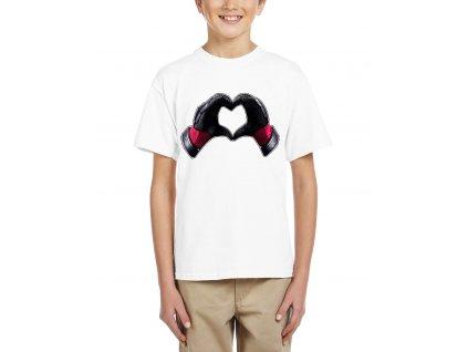 Dětské tričko Deadpool srdce