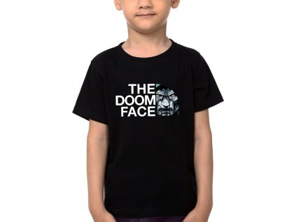 Dětské tričko DOOM Face Parodie The North Face