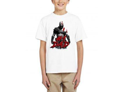 Dětské tričko God of War Nejlepší táta