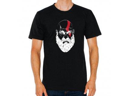 pánské černé tričko god of war Kratos
