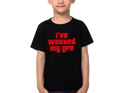 Dětské tričko GTA Promarnil jsem svůj život