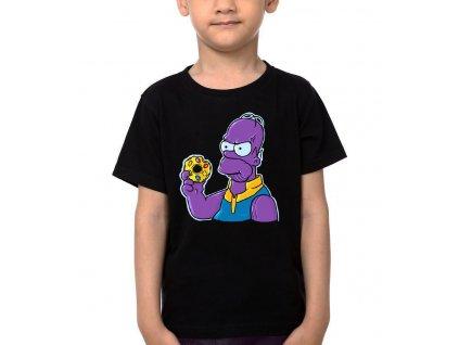 Dětské tričko Homer Simpson Avengers infinity war Donut