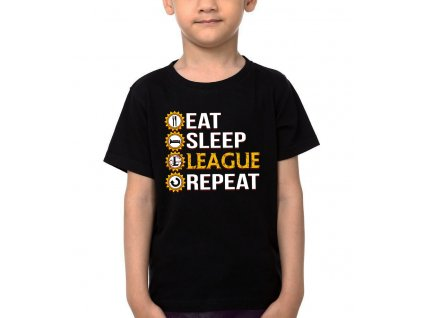 Dětské tričko League Of Legends Najíst, vyspat, League a znovu