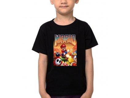 Dětské tričko Mario doom parodie