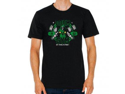 pánské černé tričko Doom posilovna