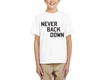 Dětské tričko Nikdy to nevzdávej