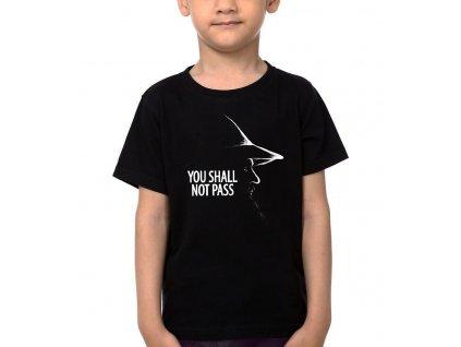 Dětské tričko Pán prstenů Gandalf šedý