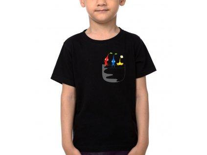 Dětské tričko Pikmin kapsička