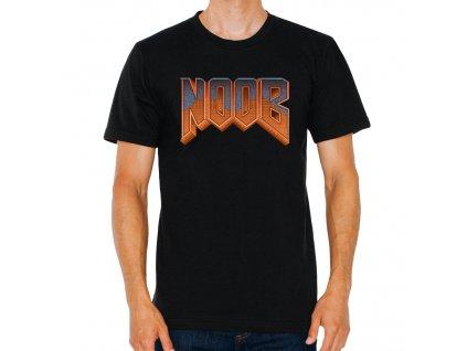 pánské černé tričko Noob parodie Doom