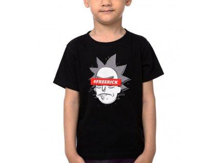 Dětské tričko Rick and Morty Free Rick