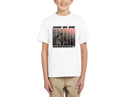 Dětské tričko Rychle a zběsile Jeď nebo Zemři