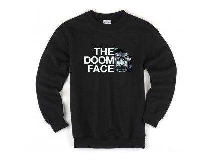 Dětská mikina DOOM Face Parodie The North Face