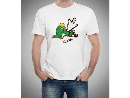 pánské bílé tričko zelda mrtvý link legend of zelda