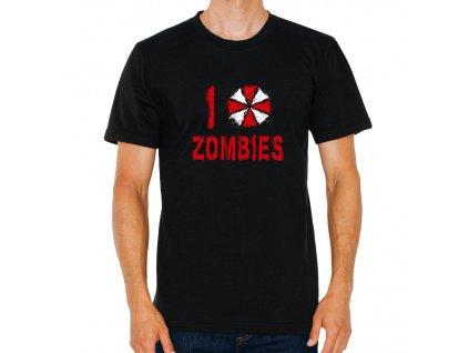 pánské černé tričko Resident Evil I love zombies