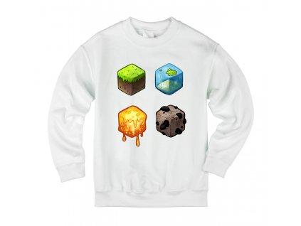 Dětská mikina Minecraft kostky