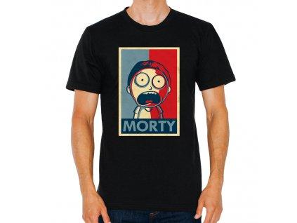 pánské černé tričko Rick And Morty Morty