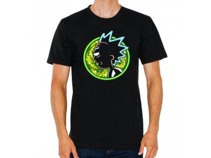 pánské černé tričko Rick And Morty Crazy Rick