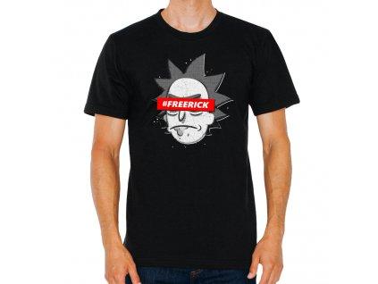 pánské černé tričko Rick And Morty Free Rick