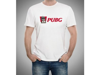 pánské bílé tričko PUBG imitace KFC