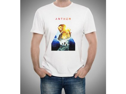pánské bílé tričko Anthem