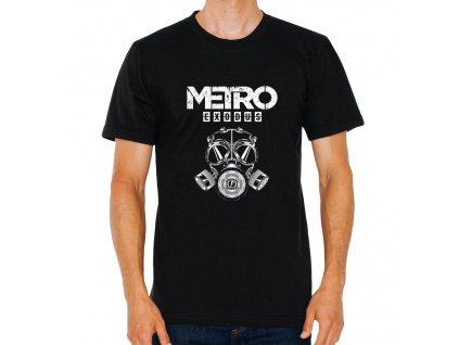 pánské černé tričko Metro Exodus