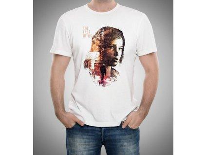 pánské bílé tričko The Last of Us