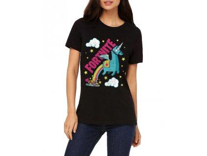 Dámské tričko Fortnite Battle Royale Unicorn Duha