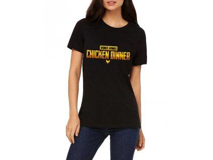 Dámské tričko Chicken Dinner PubG