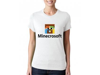 Dámské tričko Minecraft parodie Microsoft