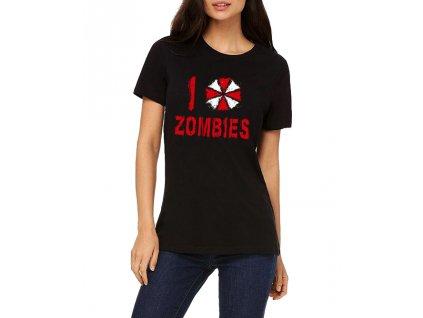 Dámské tričko Resident Evil Miluji Zombies