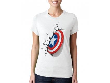 Dámské tričko Kapitán amerika štít