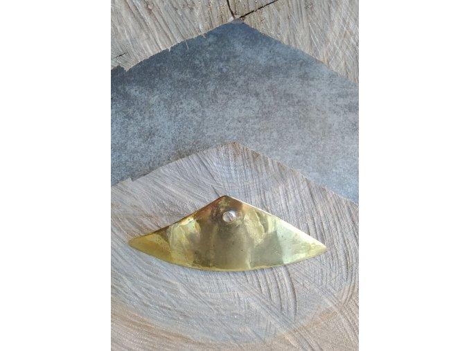 Mosazná spona do vlasů trojúhelníková