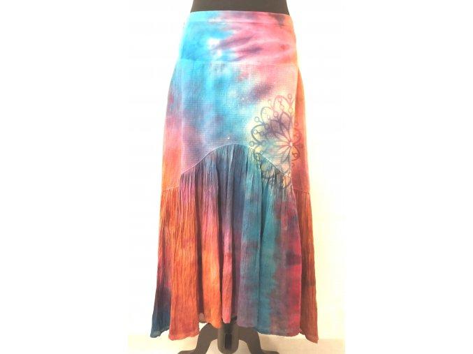 Asymetrická sukně s mandalou