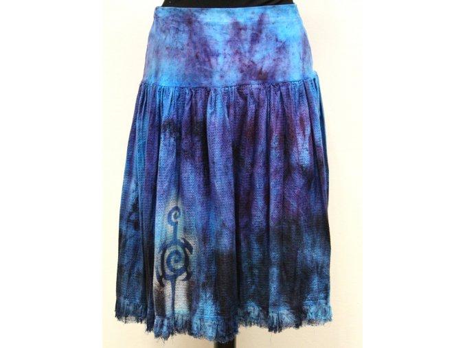 krátká modro fialová sukně