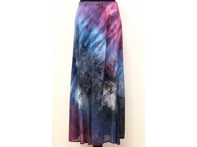 dlouhá fialovo tyrkys sukně