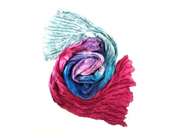 Hedvábný šál vícebarevný