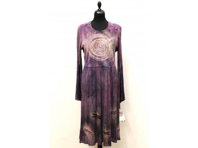 šaty fialové spirála