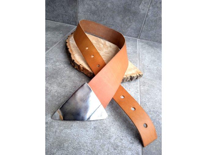 Kožený pásek okrový