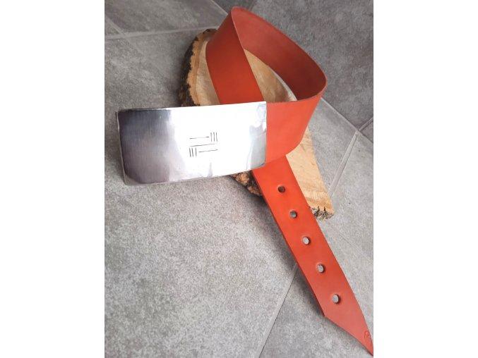 Kožený pásek oranžový