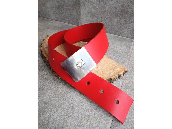 Kožený pásek červený