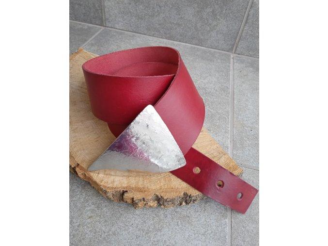 Kožený pásek tmavě červený