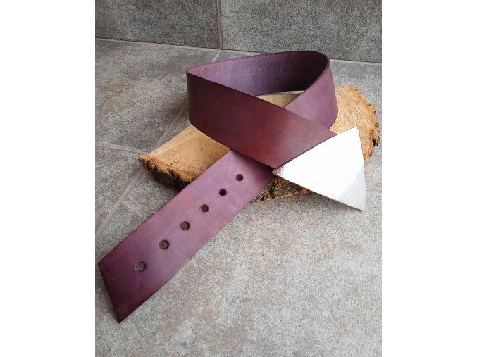 Kožený pásek fialový