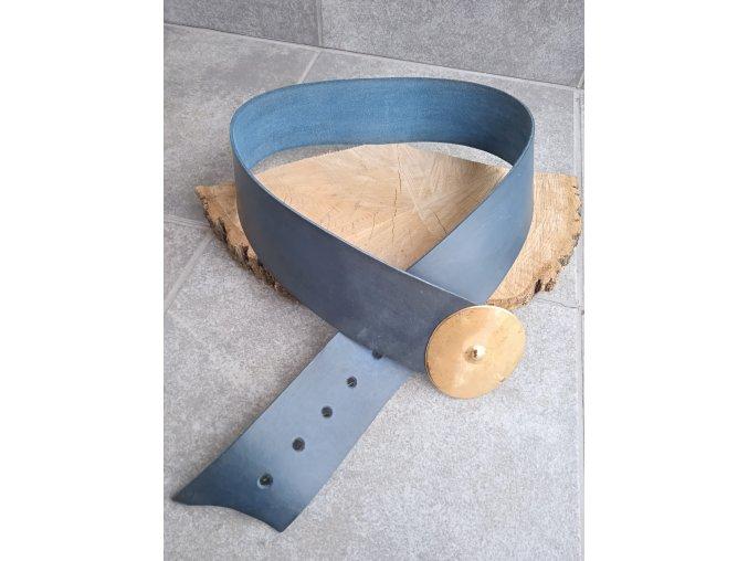 Kožený pásek petrolejový